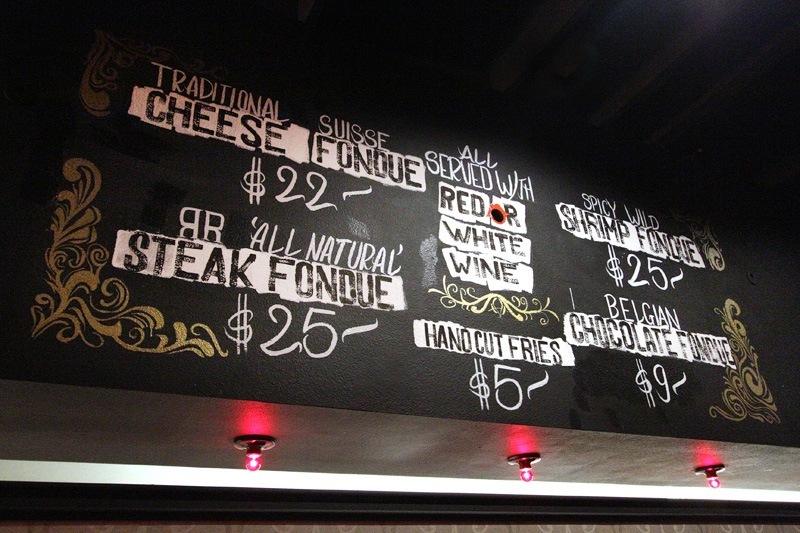 F. Pigalle menu