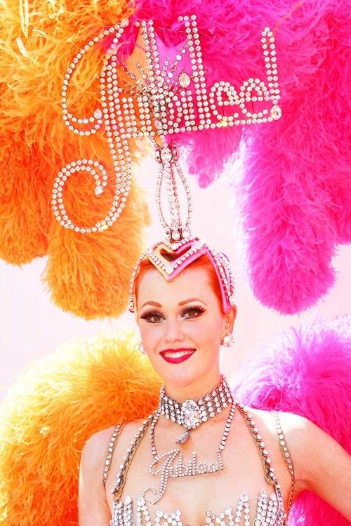 Jubilee Las Vegas showgirl