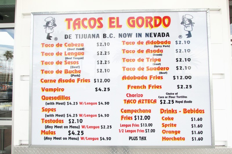 Tacos El Gordo Las Vegas Strip