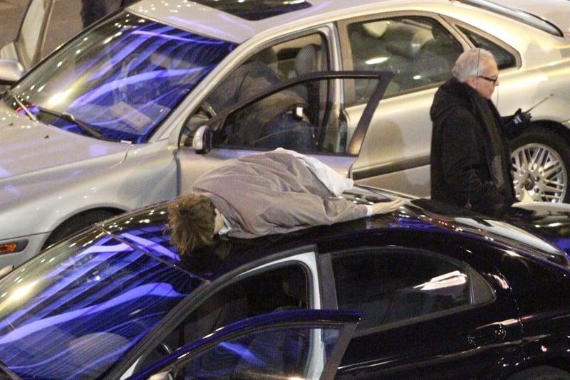 Bourne car jump stunt
