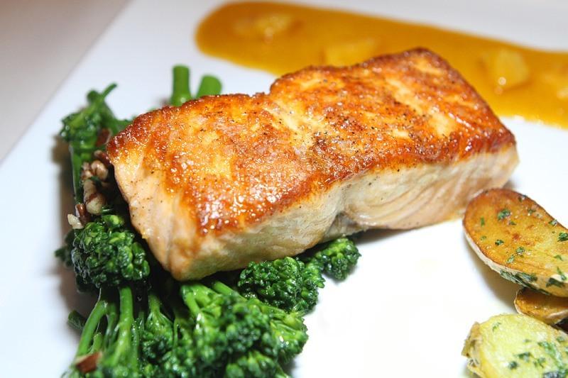 Edge Steakhouse salmon