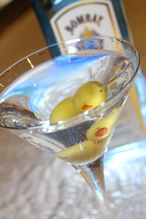Sapphire gin martini