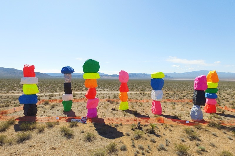 Seven Mountains sculpture