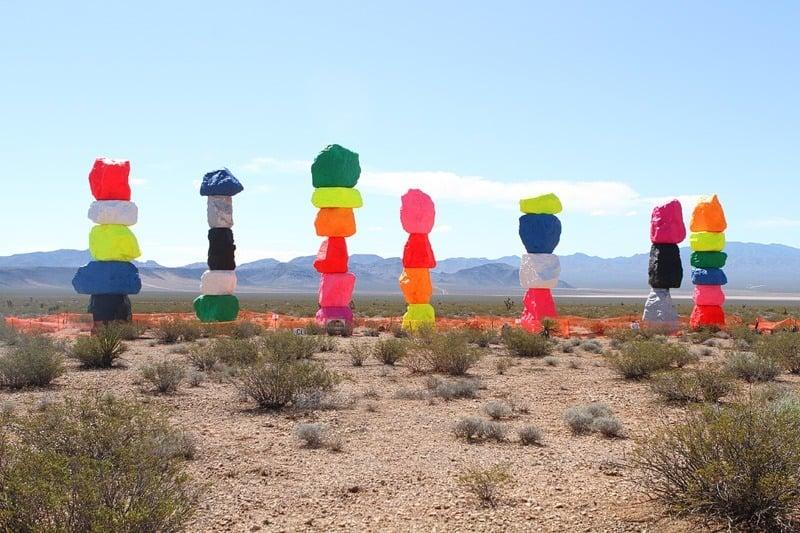 colored rocks in desert Las Vegas