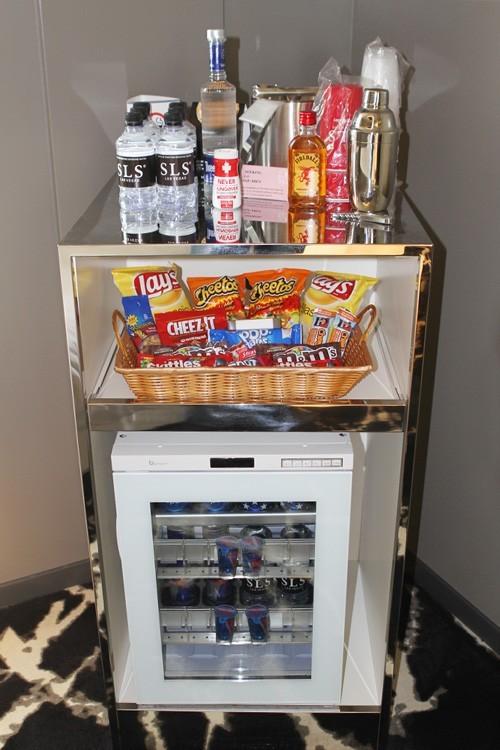 SLS Story tower minibar