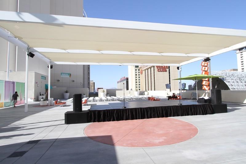 Plaza pool stage