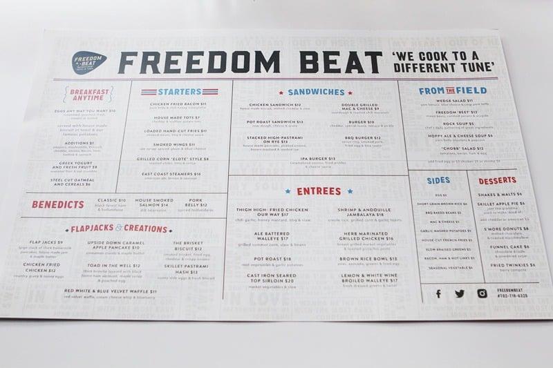 Freedom Beat menu