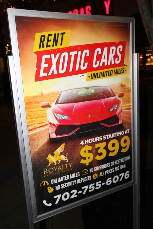 Linq exotic car rental