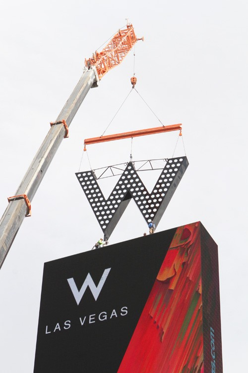 W Las Vegas marquee