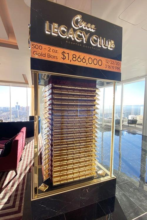 Legacy Club gold bars