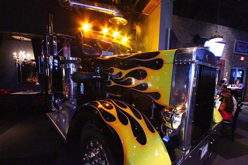 Pizza Rock truck cab