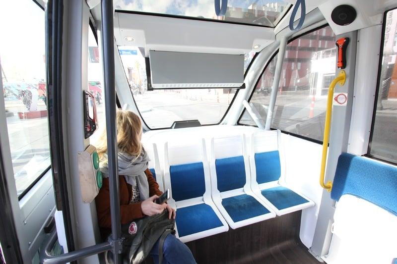 Self-driving shuttle Las Vegas