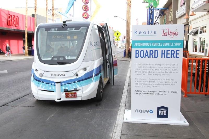 Autonomous vehicle Fremont Street