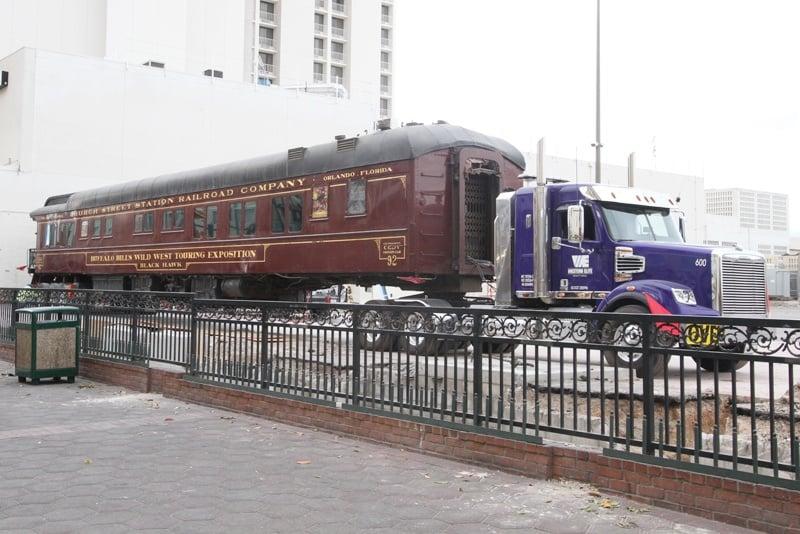 Main Street Station train cars