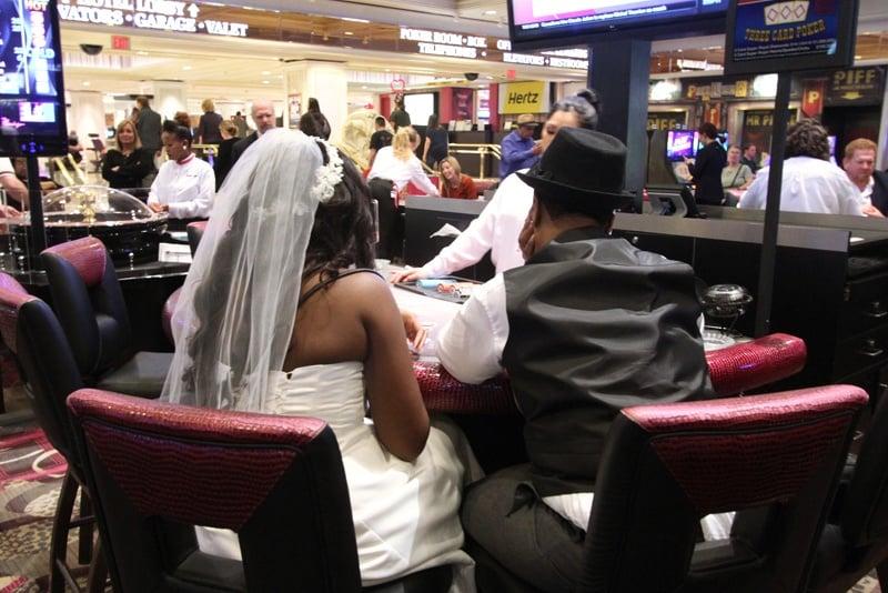 Casino newlyweds