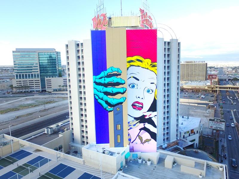 Plaza mural Las Vegas