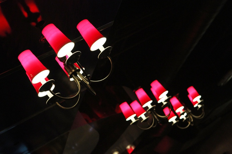 Red solo cup chandelier
