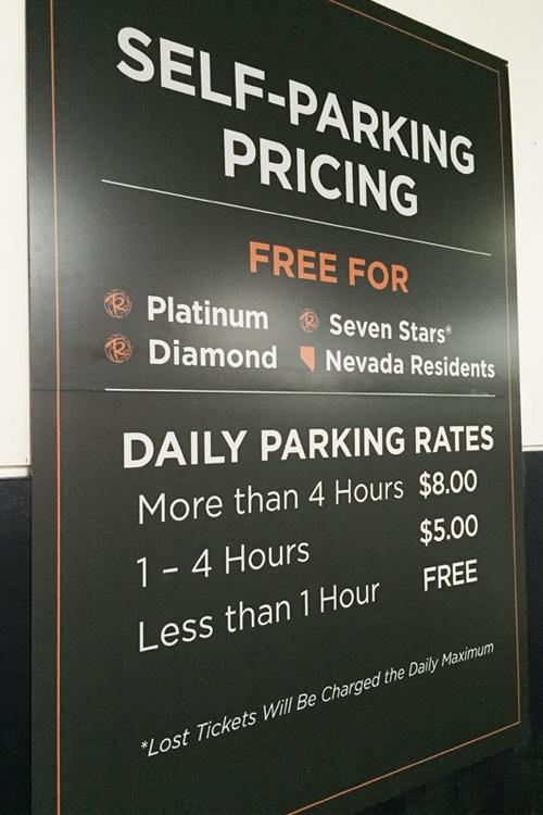 Linq paid parking fees