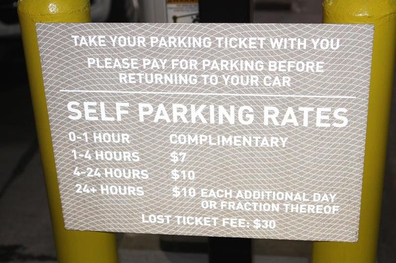 Cosmopolitan paid parking
