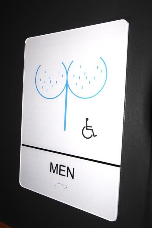 Corduroy restroom