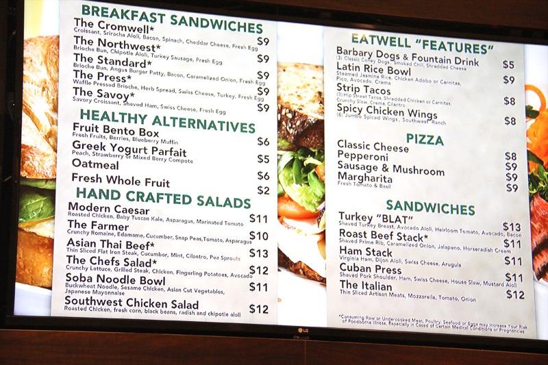 Cromwell Eatwell menu