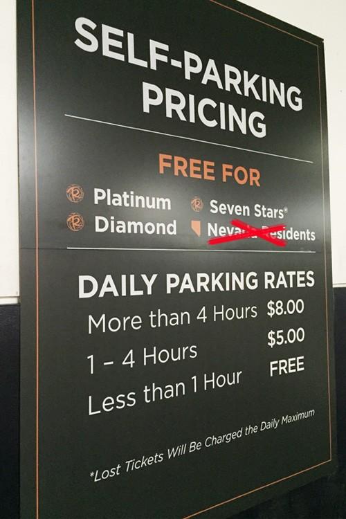 Caesars paid parking locals