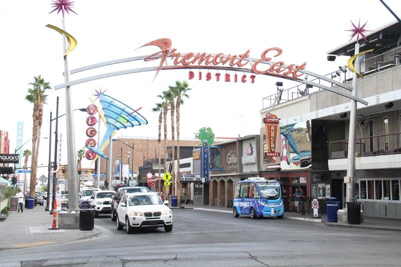 Driverless shuttle Las Vegas