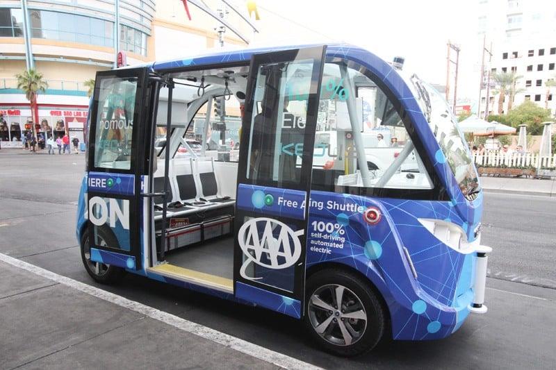 Las Vegas driverless shuttle