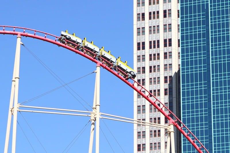 Las Vegas roller coaster