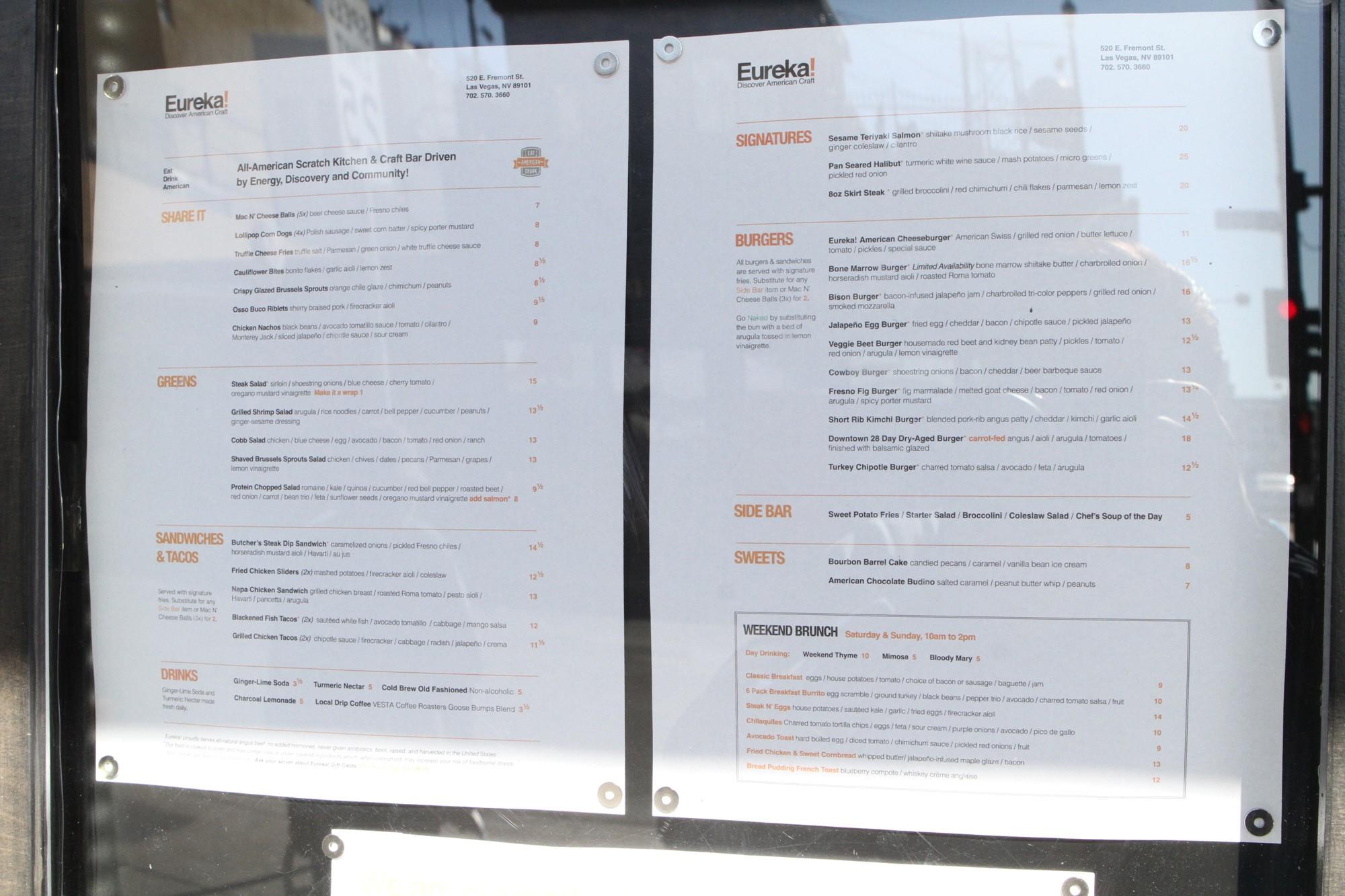 Fremont East\'s Eureka Restaurant Reveals Menu