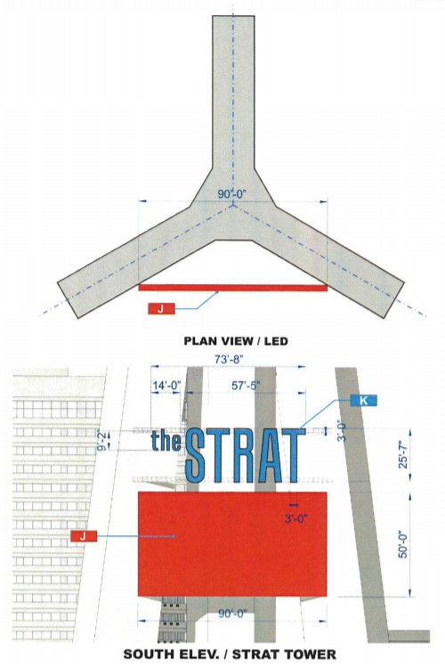 Stratosphere signage