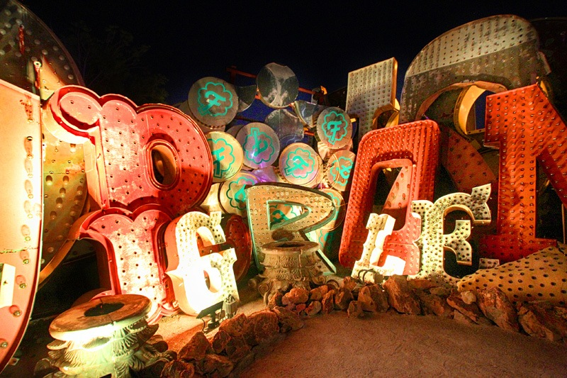 Neon Museum signs