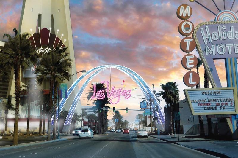 Downtown Las Vegas gateway arch