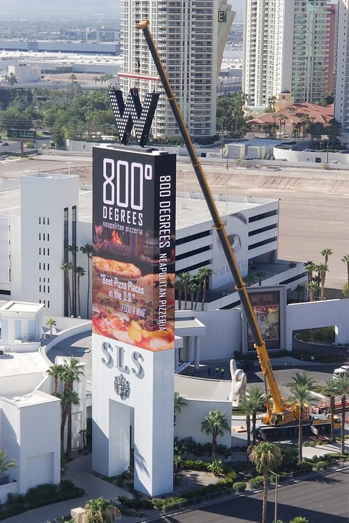 W hotel sign removal
