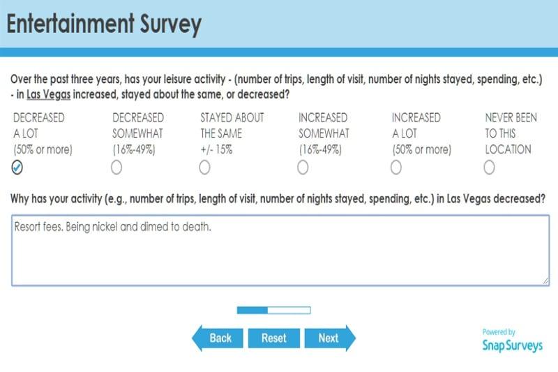 Caesars survey