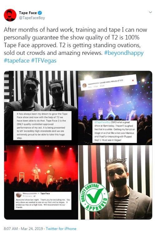 Tape Face Tweet