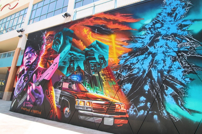 weed museum mural
