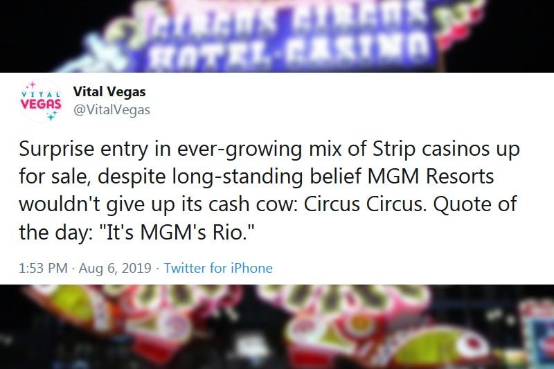 Circus Circus sold