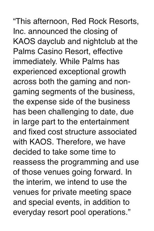 Kaos closed
