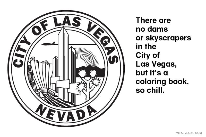 Las Vegas coloring book