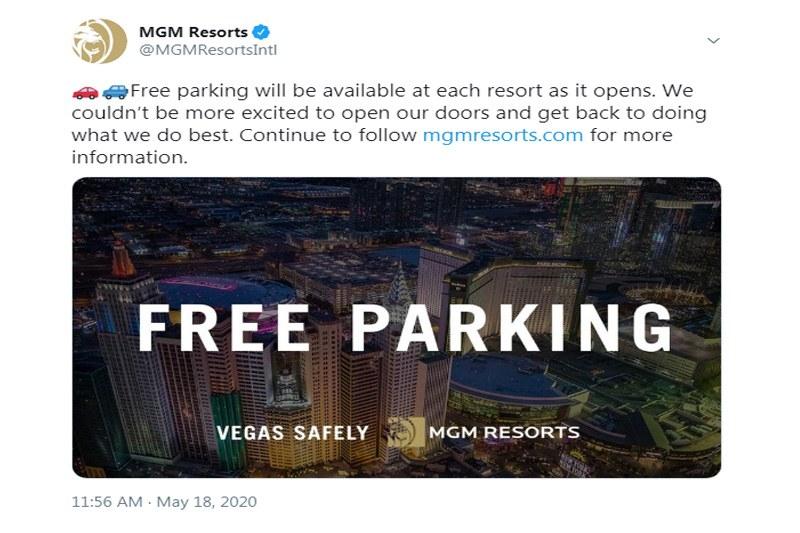 MGM Resorts free parking