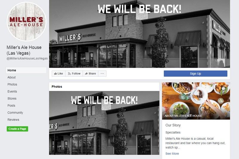Miller's Ale House Las Vegas closed
