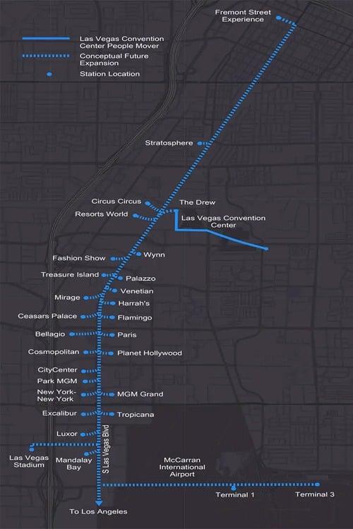 Elon Musk Las Vegas map