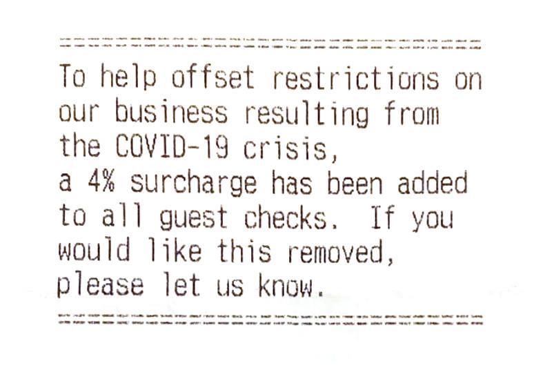 Joe's COVID receipt