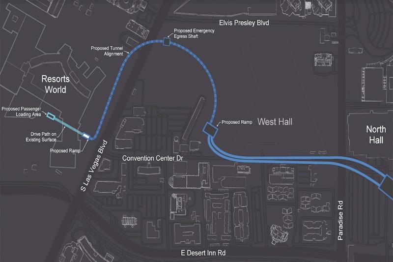 Resorts World tunnel map