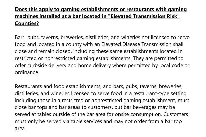 Vegas bars closing