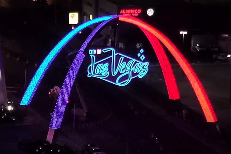 Downtown Vegas arch