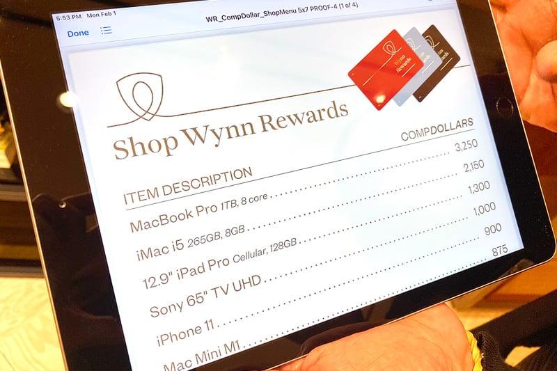 Wynn Rewards comp dollars