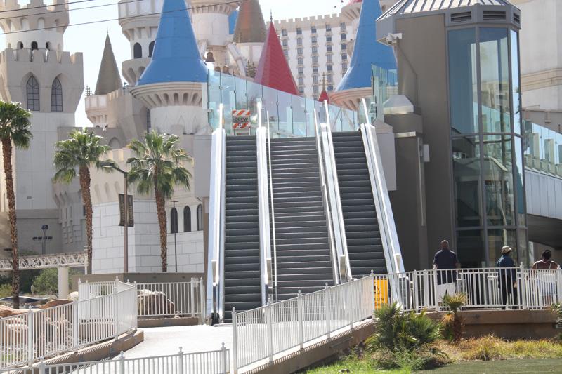 Strip broken escalator
