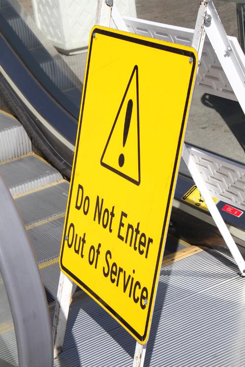 Vegas escalators out of service